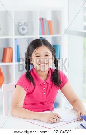 Diligent Schoolgirl