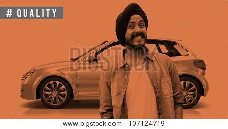 Marketing Merchandise Model Presentation Car Concept