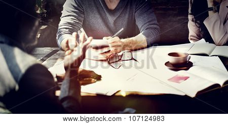Business Architecture Interior Designer Meeting Concept