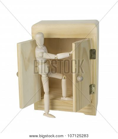 Climbing Out Of A Wardrobe