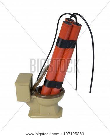 Dynamite In A Toilet