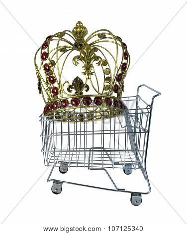 Golden Crown In A Shopping Cart