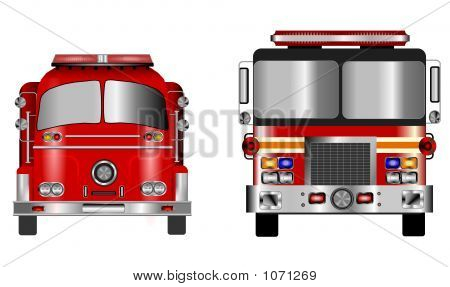 Old And New Fire Engine