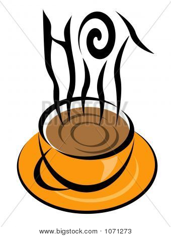 Hot Coffee Illustration