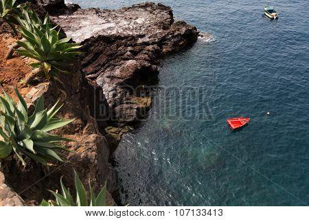 Camara De Lobos Is A City In The South-central Coast Of Madeira, Portugal