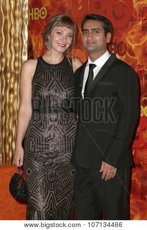 LOS ANGELES - SEP 20:  Kumail Nanjiani at the HBO Primetime Emmy Awards After-Party at the Pacific Design Center on September 20, 2015 in West Hollywood, CA