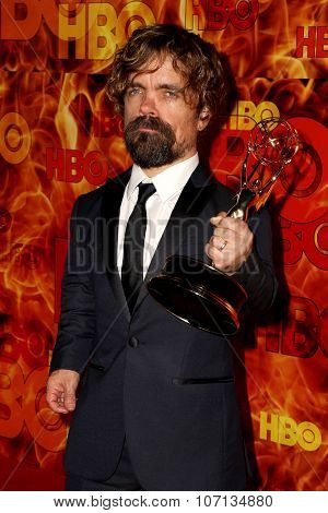 LOS ANGELES - SEP 20:  Peter Dinklage at the HBO Primetime Emmy Awards After-Party at the Pacific Design Center on September 20, 2015 in West Hollywood, CA