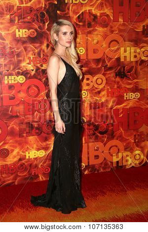 LOS ANGELES - SEP 20:  Emma Roberts at the HBO Primetime Emmy Awards After-Party at the Pacific Design Center on September 20, 2015 in West Hollywood, CA