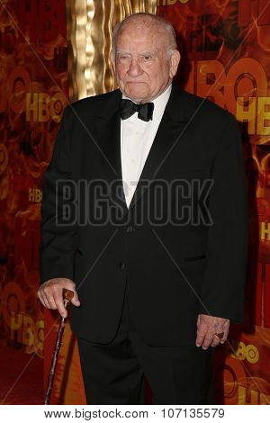 LOS ANGELES - SEP 20:  Ed Asner at the HBO Primetime Emmy Awards After-Party at the Pacific Design Center on September 20, 2015 in West Hollywood, CA