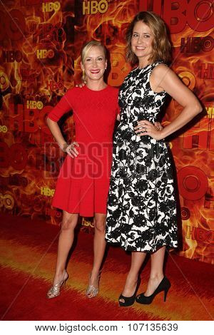 LOS ANGELES - SEP 20:  Angela Kinsey, Jenna Fischer at the HBO Primetime Emmy Awards After-Party at the Pacific Design Center on September 20, 2015 in West Hollywood, CA