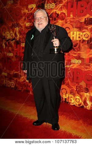 LOS ANGELES - SEP 20:  George R. R. Martin at the HBO Primetime Emmy Awards After-Party at the Pacific Design Center on September 20, 2015 in West Hollywood, CA