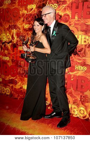 LOS ANGELES - SEP 20:  Julia Louis-Dreyfus, Brad Hall at the HBO Primetime Emmy Awards After-Party at the Pacific Design Center on September 20, 2015 in West Hollywood, CA