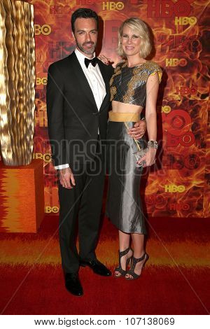 LOS ANGELES - SEP 20:  Reid Scott, Elspeth Keller at the HBO Primetime Emmy Awards After-Party at the Pacific Design Center on September 20, 2015 in West Hollywood, CA