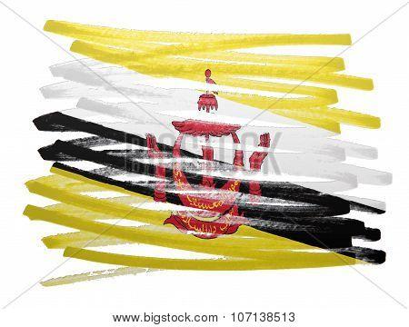 Flag Illustration - Brunei
