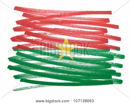 Flag Illustration - Burkina Faso