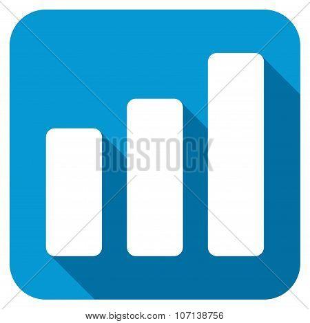 Bar Chart Increase Longshadow Icon