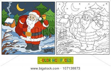 Coloring Book, Game For Children: Santa Claus
