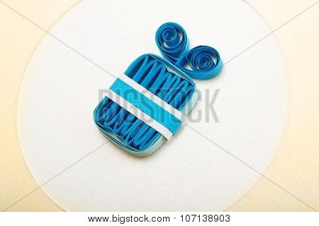 Paper Present Or Birthday Girt Made With Quilling Technique Isolated
