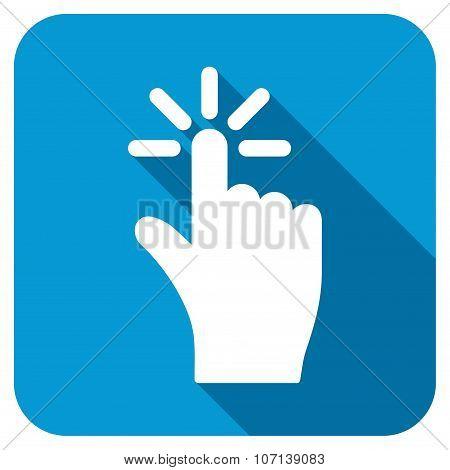 Click Longshadow Flat Icon
