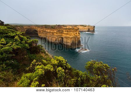 The Twelve Apostles, A Famous Collection Of Limestone Stacks Off The Shore Of The Port Campbell Nati