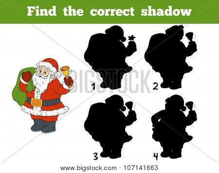 Find The Correct Shadow (santa Claus And Bell)