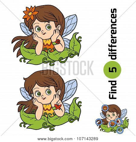 Find Differences, Game For Children: Little Fairy