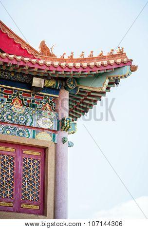 High beautiful traditional Chinese pavilion.