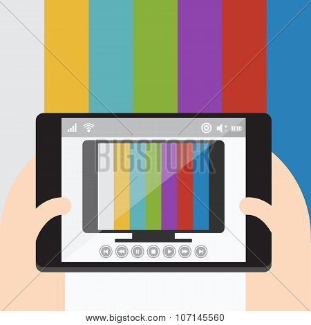 TV on mobile, Internet television.