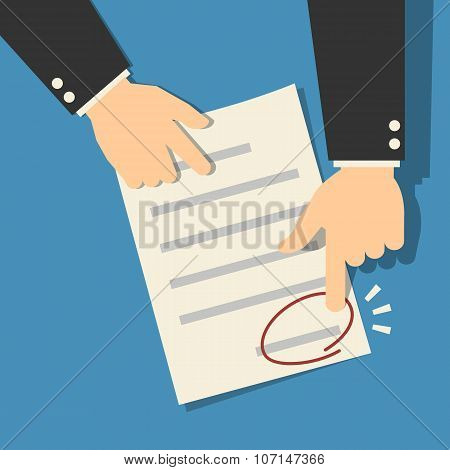 Signing sign contract paper document