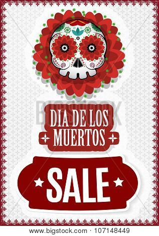 Day of Dead, Dia De Los Muertos Sale Vector Poster