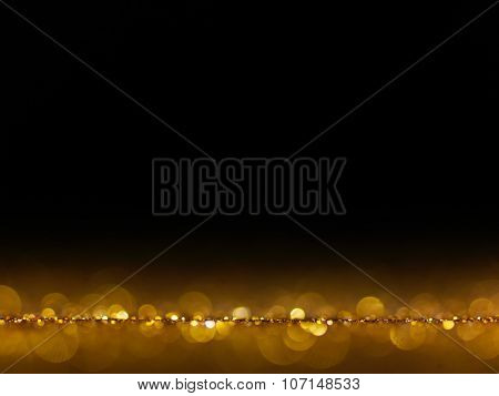 gold Festive Christmas elegant abstract background with bokeh lights.Christmas card. bokeh lights. concept.