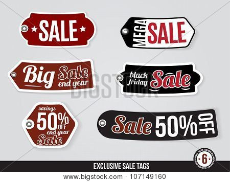 Exclusive Vector Sale Tags, Labels