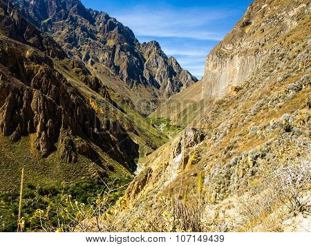 The deepest parts of Colca Canyon in Peru
