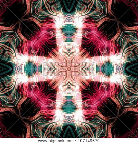 Abstract magic multicolor glow - decorative pattern and shape