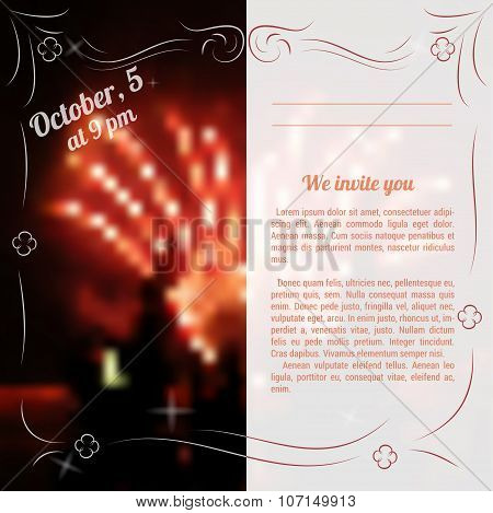 Sample Template Of Invitation To Celebration