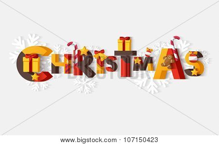 Christmas typographic poster