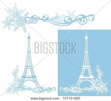 Winter Season Eiffel Tower