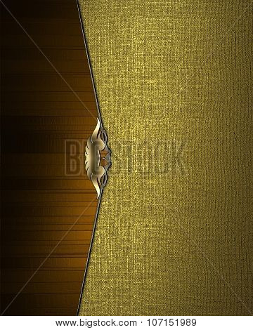 Gold Texture With Brown Edge. Element For Design. Template For Design. Copy Space For Ad Brochure Or