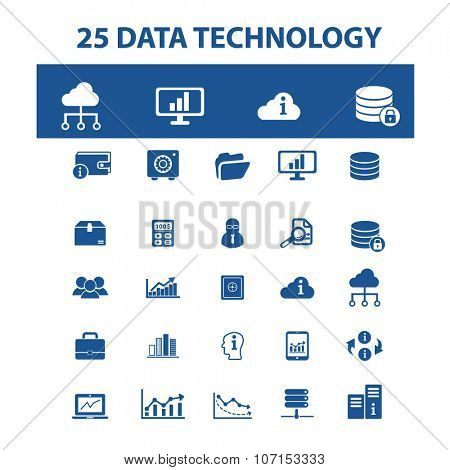 data technology, computer network, connection, hosting, database, pc  icons, signs vector concept set for infographics, mobile, website, application