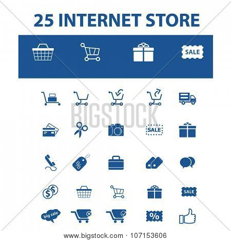 internet store, shopping, retail, cart, sales, store  icons, signs vector concept set for infographics, mobile, website, application