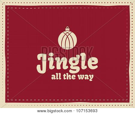 Christmas unique funny sign, quote background design for kids - waiting for snow. Nice bright palett