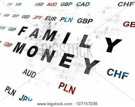Currency concept: Family Money on Digital background