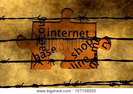 Internet  Puzzle Concept