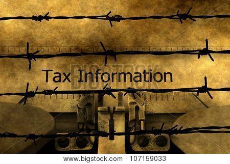 Tax Information On Typewriter
