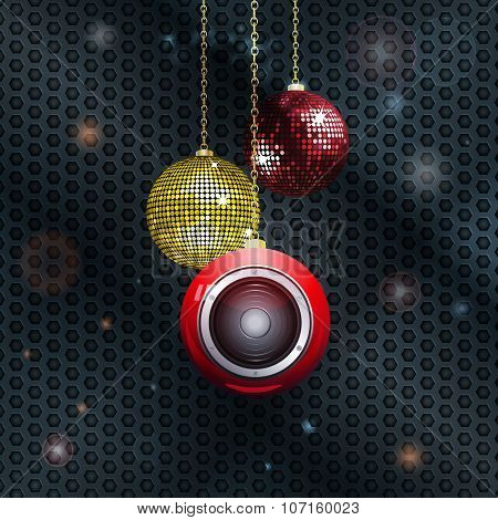Christmas Baubles With Speaker