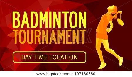 Polygonal Professional Badminton Player, Sports Announcement