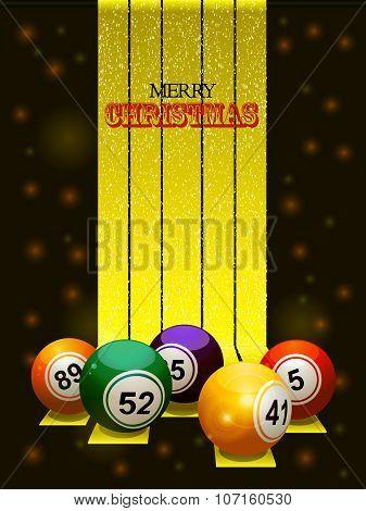 Merry Christmas Bingo Balls
