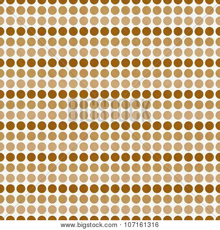 Brown And White Polka Dot  Abstract Design Tile Pattern Repeat Background