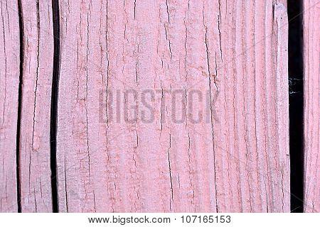 Old Pink Wooden Background. Vintage Wood Background.