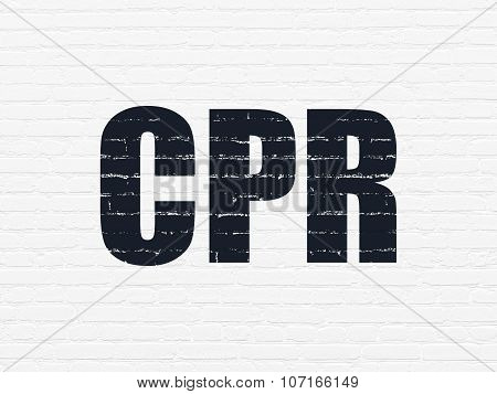 Medicine concept: CPR on wall background